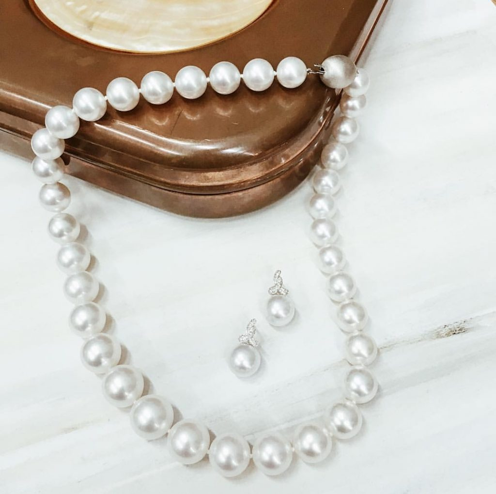 original product pearl swarovski graduated gama gamaweddings pearls weddings jewellery necklace made with by