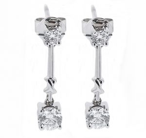 diamond dop earrings | B16787