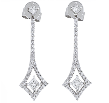 Deco Style Diamond Dress Earrings | B18893