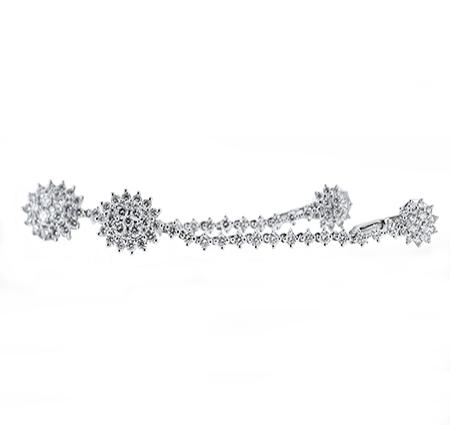 diamond dress earrings | B18928