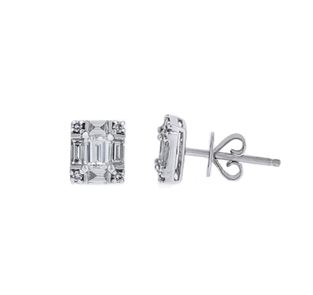 Baguette Diamond Stud Earrings | B19301