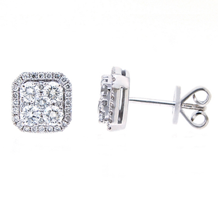 diamond earrings | B19427