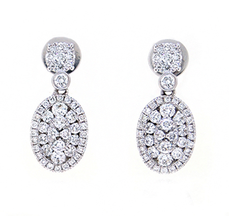 cluster diamond dress earrings | B19428