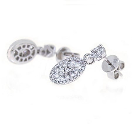 diamond dress earrings | B19428