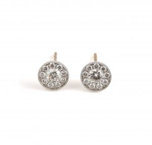 Diamond Cluster Earrings | B19430