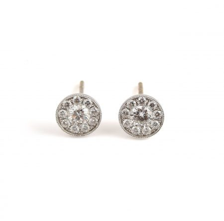 Diamond Cluster Earrings | B19430