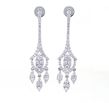 diamond dress earrings | B19431