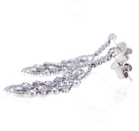 diamond dress earrings | B19432