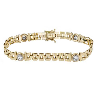 Yellow Gold Diamond Bracelet | B19088