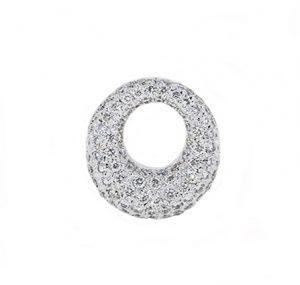 Pave set diamond circle pendant | B11263