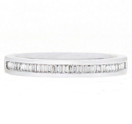 Channel Set Baguette Cut Diamond Wedding Ring | B12193
