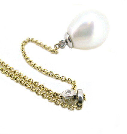 Yellow Gold South Sea Pearl Necklace | B12995