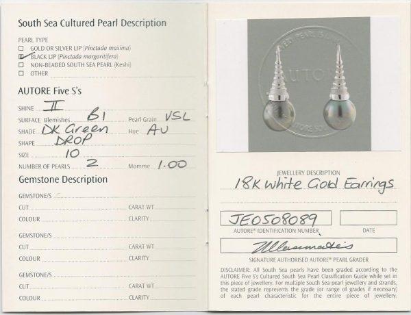 Autore South Sea Pearl Earrings | b13602-cert