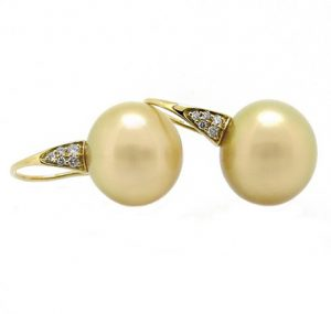 Autore gold South Sea Pearl earrings | B15158
