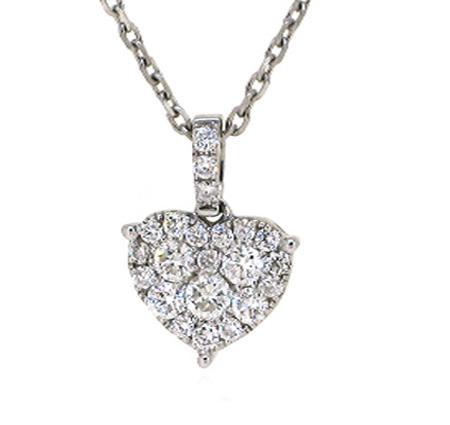 diamond heart pendant | B15203