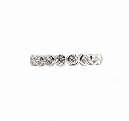 White Gold Bezel Set Diamond Wedding Ring   B15544