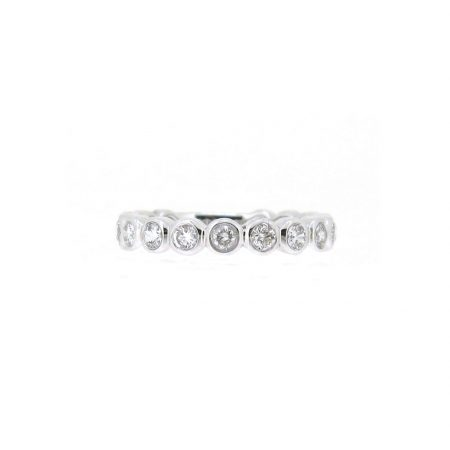 White Gold Bezel Set Diamond Wedding Ring | B15544