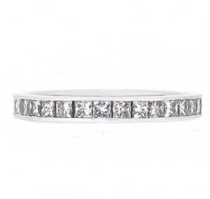 Channel Set Princess Cut Diamond Wedding Ring | B15818