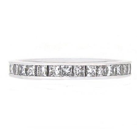 Channel Set Princess Cut Diamond Wedding Ring | B15818