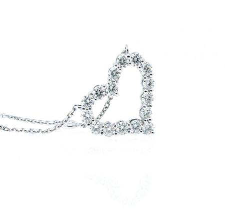 diamond heart necklace | B15925