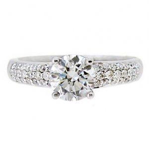 diamond engagement ring perth   B16351