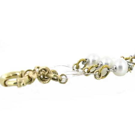 Two tone south sea pearl bracelet | B17161