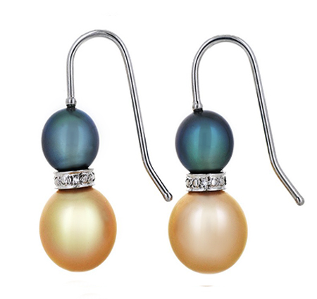 south sea pearl earrings | B17255