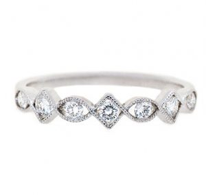 Alternating Shape Diamond Wedding Ring | B17282
