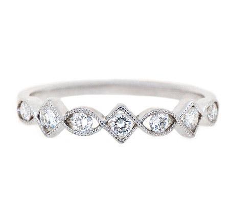 Alternating Shape Diamond Wedding Ring | B17282
