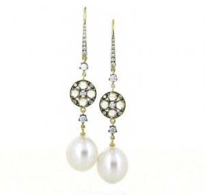 autore south sea pearl earrings | B17829