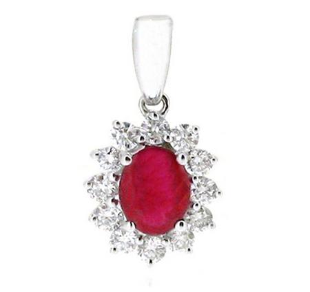 ruby pendant | B17930