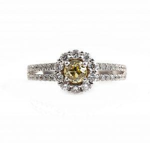 Yellow Diamond Engagement Ring | B18996