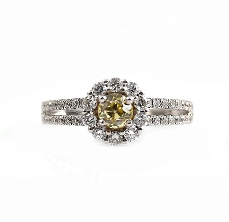 Yellow Diamond Engagement Ring | B18996