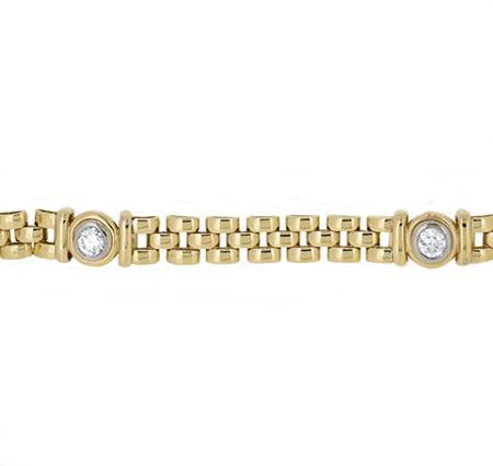 Yellow Gold Diamond Bracelet | B19088