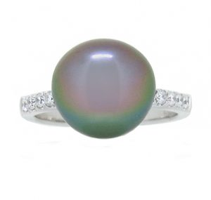 Tahitian South Sea Pearl And Diamond Ring | B19128