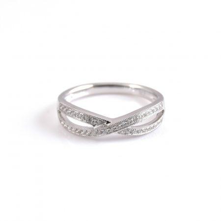 Infinity Shape Diamond Wedding Ring | B19196