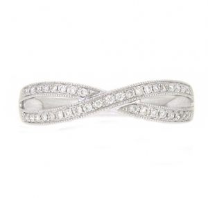 Infinity Shape Diamond Wedding Ring | B19196