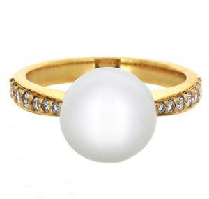 south sea pearl ring | B19239