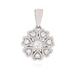 diamond cluster necklace   B19273