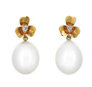 fresh water pearl earrings| B19303