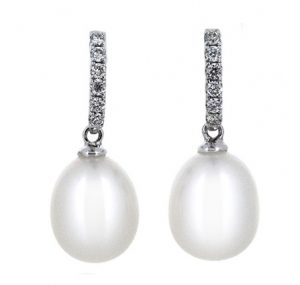 fresh water pearl earrings | B19304