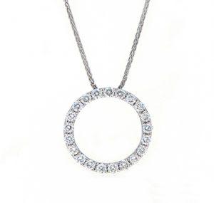 diamond circle pendant   B19434