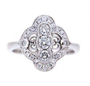 Art Deco Style Diamond Dress Ring | B19638