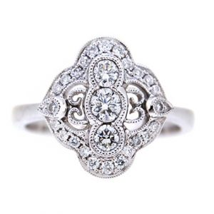 Art Deco Style Diamond Dress Ring | B19638