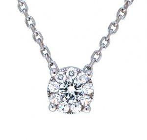 diamond cluster necklace | B19781