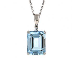 aquamarine pendant | B19797