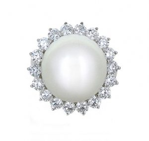 south sea pearl ring | B19858