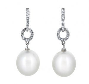 south sea pearl earrings | B19891