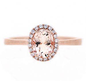 morganite ring | B19897