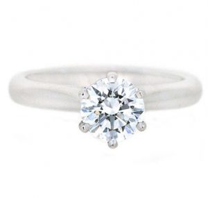 Classic Six Claw Solitaire Diamond Engagement Ring | B19909